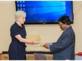 Ms.Susan Hill and VC exchanging letter of agreement