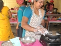During cookery competition.